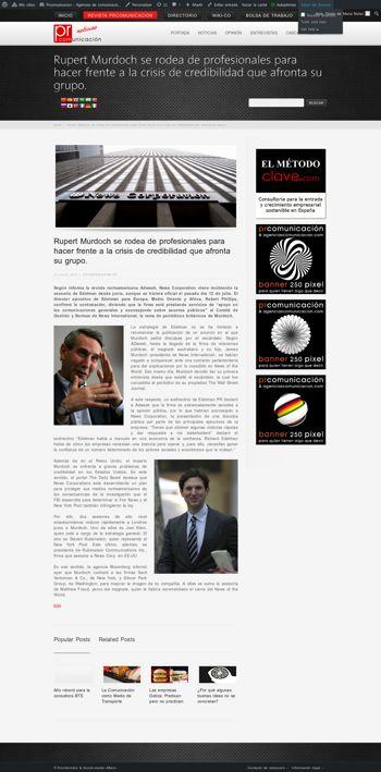 agenciascomunicacion.com - Rupert Murdoch se rodea de profesionales